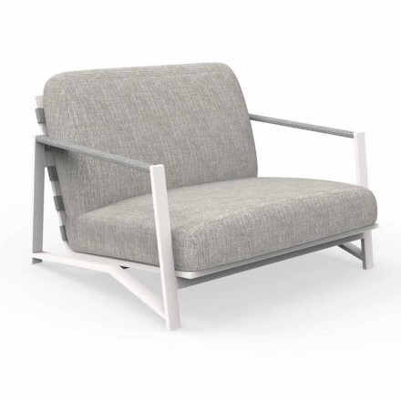 Modern Outdoor Armchair in Aluminum and Fabric - Cottage Luxury by Talenti