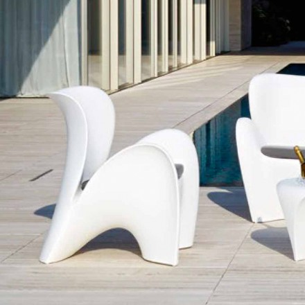 Design Colored Plastic Outdoor or Indoor Armchair - Lily by Myyour
