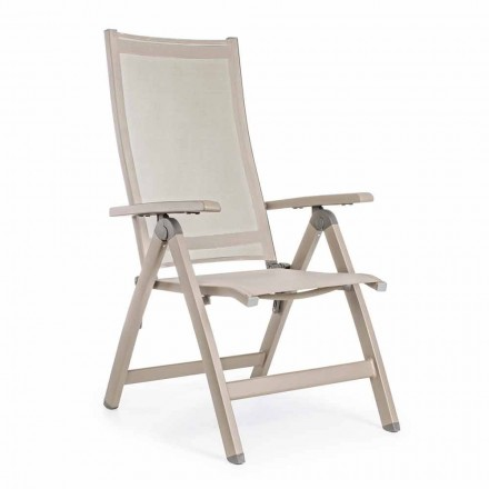 Reclining Outdoor Armchair with Aluminum Structure, Homemotion - Ursula