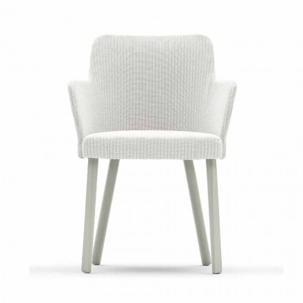 Design outdoor armchair in aluminum and fabric Emma by Varaschin