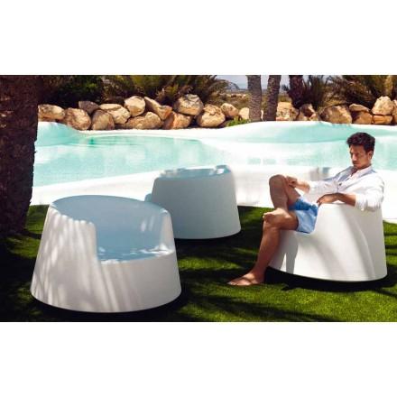 Modern garden armchair, in polyethylene, Roulette by Vondom