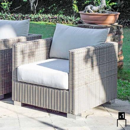 Garden armchair Elsa, handmade weaving, modern design