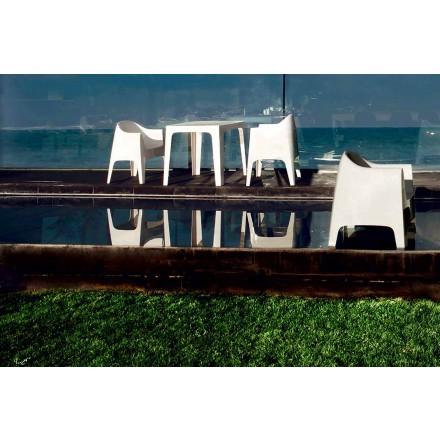 Modern design outdoor armchair in polypropylene, Solid by Vondom