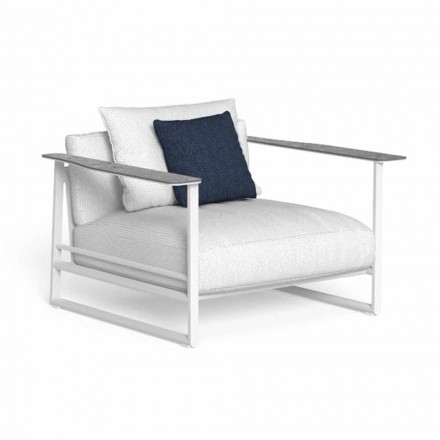 Garden Armchair in Aluminum and Gres Made in Italy - Riviera by Talenti