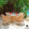 Chad hand-woven polyethylene garden armchair