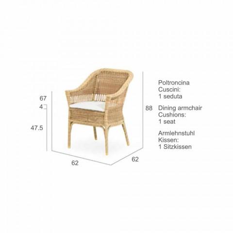 Polyethylene Garden armchair hand woven Chad