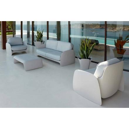 Modern design garden armchair in polyethylene, Pezzettina by Vondom