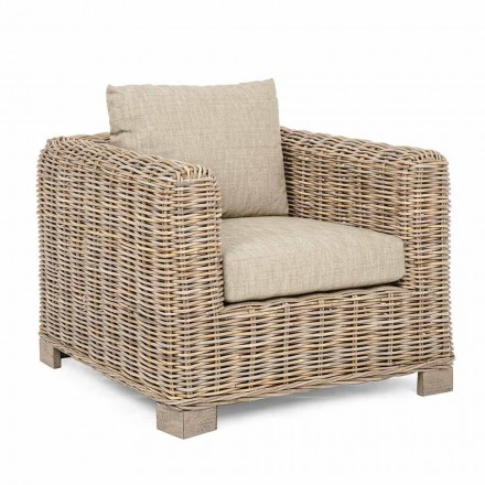 Indoor and Outdoor Rattan Armchair by Homemotion - Ceara Design