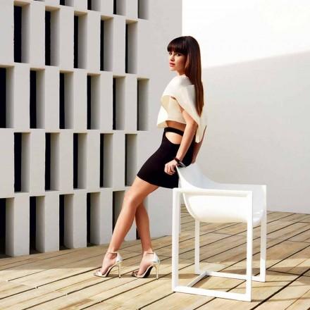 Garden armchair, polypropylene with fiber glass Wallstreet by Vondom