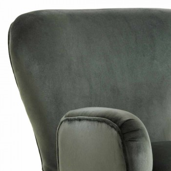 Classic design upholstered lounge chair, L78xP75cm, Benny