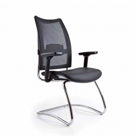Ergonomic office chair Overtime Luxy with mesh backrest and armrests