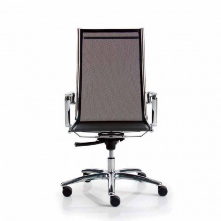 Mesh executive chair with high backrest Light by Luxy