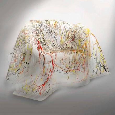 Multicolor plexiglass armchair Paris, modern design, made in Italy
