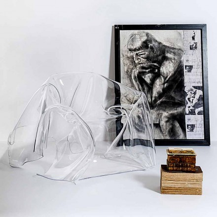 Transparent plexiglass armchair Paris, modern design, made in Italy