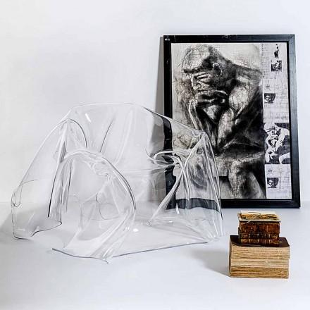 Transparent plexiglass armchair Paris, modern design, made in Italy