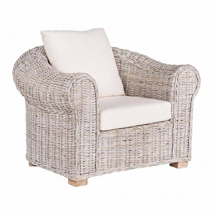 Ethnic Armchair for Indoor or Indoor Outdoor in Rattan Homemotion - Francioso