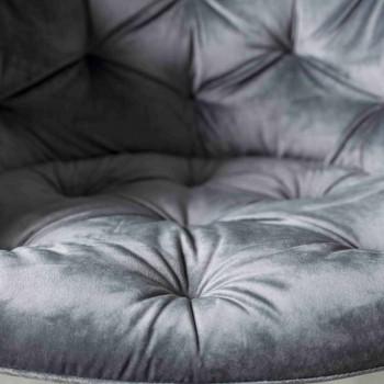 Modern Design Armchair, with Capitonnè Manufacturing - Enea