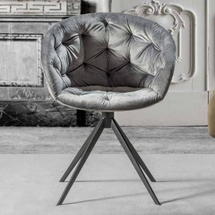Modern design armchari with tufted working – Enea