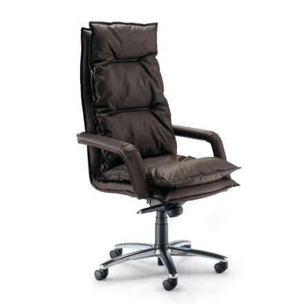 Faux leather executive office chair Gemma, modern design