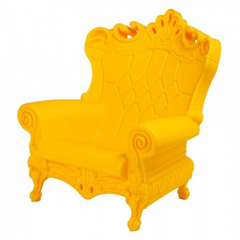 Colored elegant armchair Slide Queen Of Love polyethylene made in Italy