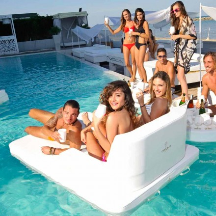 Modern floating pool lounge chair Magnum by Trona, made in Italy
