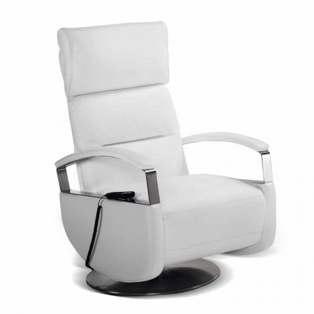 Swivel armchair, Dual motor, Cassia, modern design made in Italy