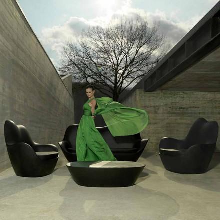 Modern garden armchair, made with polyethylene, Sabinas by Vondom