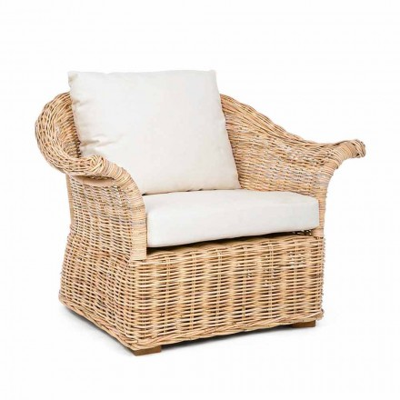Homemotion - Fermin Ethnic Style Indoor or Outdoor Rattan Armchair