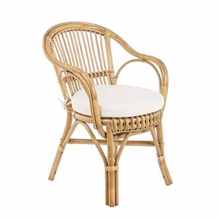 Garden Armchair in Natural Rattan for Outdoor Design - Sporalizia