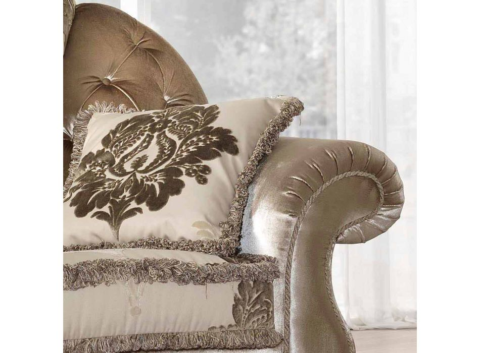 Armchair partially removable fabric, classic style, Liberty