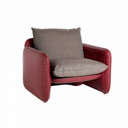 Lounge outdoor chair with waterproof pillows – Mara Slide