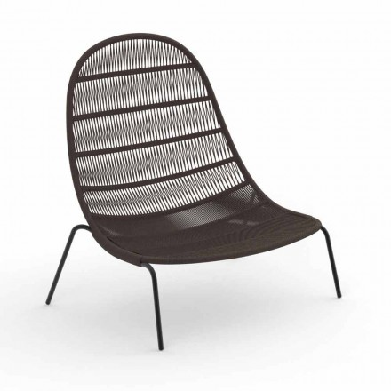 Garden Lounge Chair in Aluminum and Fabric - Panama by Talenti