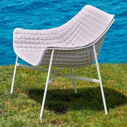 Modern garden lounge chair made of steel Summer set by Varaschin