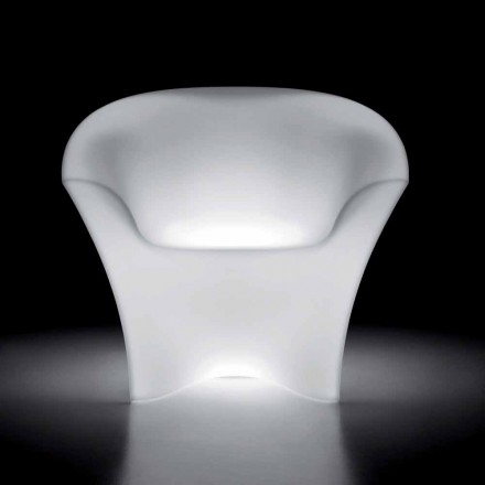 Luminous Outdoor Armchair in Polyethylene with LED Light Made in Italy - Conda