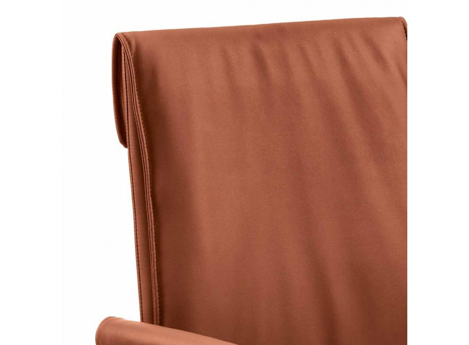 Armchair made in Italy covered in Niles leather, modern design