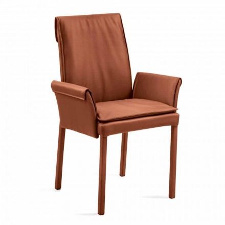 Armchair made in Italy on leather coated Niles, modern design