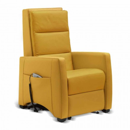 Dual motor riser armchair Altea, with massage option, made in Italy