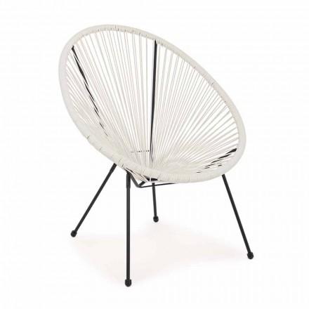 Modern Design Outdoor Armchair in Painted Steel - Sparkling