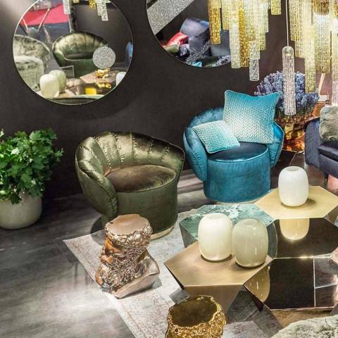 Modern design armchair upholstered in Belle fabric