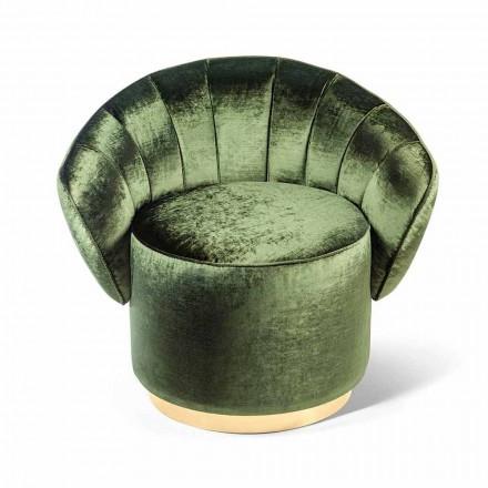 Upholstered fabric armchair Belle, modern design