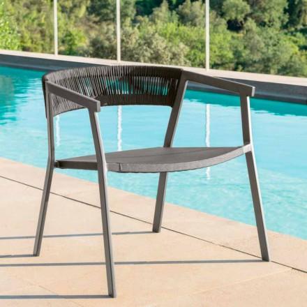 Key Talenti modern outdoor armchair, aluminum and textilene