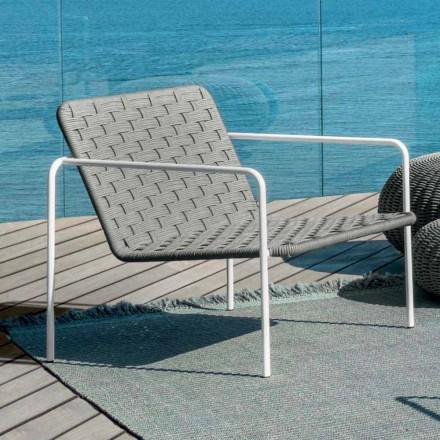 Mordena living Jackie by Talenti outdoor armchair in sinetic rope