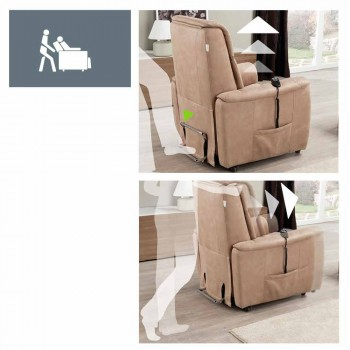 Relaxed motorized armchair - 1 Roma motorized lift