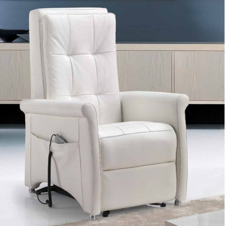 Riser recliner armchair, single motor, Via Roma