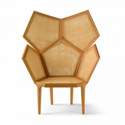 Classic design living room pentagonal armchair Pole, L103xW72 cm