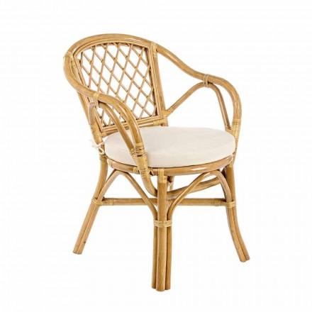 Stackable Outdoor Garden Chair in Natural Rattan - Spore