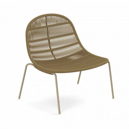Outdoor Armchair in Aluminum and Fabric - Panama by Talenti