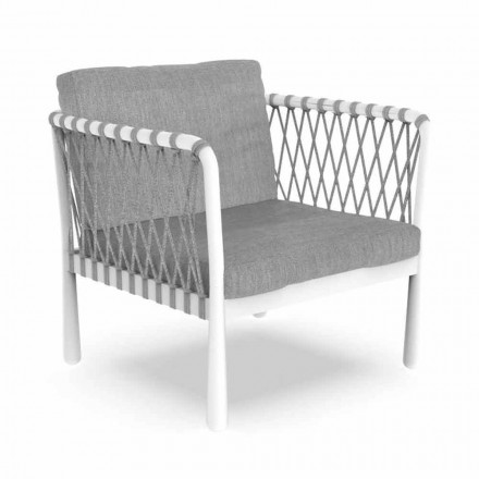 Modern Outdoor Armchair in Aluminum and Fabric - Sofy by Talenti
