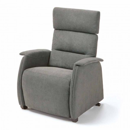 Dual motor riser recliner chair Kiri, modern design made in Italy