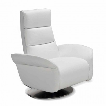Swivel armchair Bluma with fabric/leather/faux leather upholstery